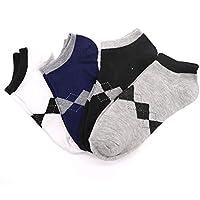 XMDNYE 4 Paar Atmungsaktive Socken Männliche Socken Casual Socken Kurze Socken