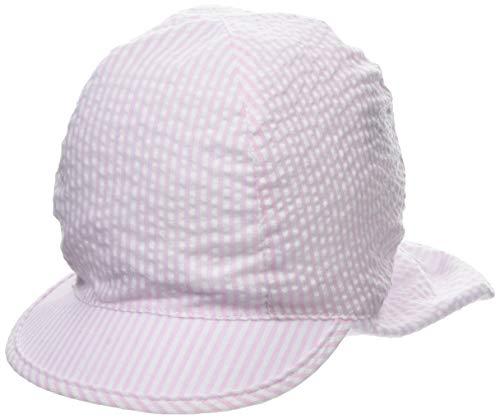 maximo Baby - Mädchen Schildmütze Mütze, per Pack Rosa (zartrosa-weiß 30), 45 (Herstellergröße: 45)
