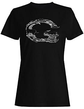 G carta alfabeto hermoso positivo camiseta de las mujeres e960f