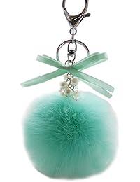 3785cd3f27 Sannysis palla di peluche portachiavi borsa auto portachiavi, verde, 8 cm