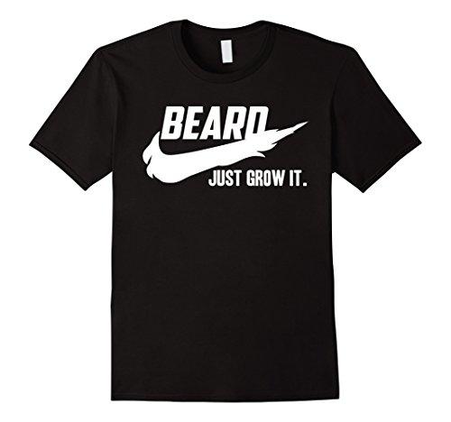 mens-beard-t-shirts-for-men-just-grow-it-herren-gre-m-schwarz