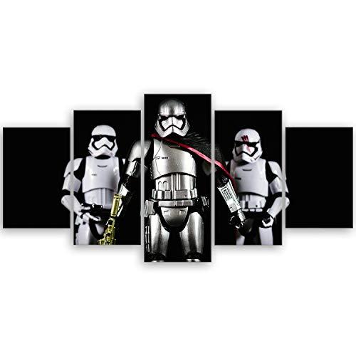 ge Bildet® hochwertiges Leinwandbild - Stormtrooper VI - 100 x 50 cm mehrteilig (5 teilig) 3062 H