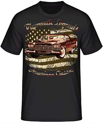 American Classic car Shirt Oldtimer Vintage Hot Rod RocknRoll Rockabilly T-Shirts (M,58 Christine) -