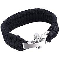 Sanzhileg Outdoor Camping Überleben Armband Weave Handmade 7-Stand Edelstahl Schäkel Schnalle Self-Rettung Überleben... preisvergleich bei billige-tabletten.eu