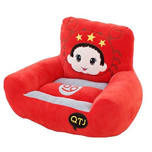 VERCART KinderSessel Sitzpuff Sitzsack Kissen Sessel Sitzpuff Baby Kinder Sitzkissen Bodenkissen Horoskop Tier Löwe 70cm