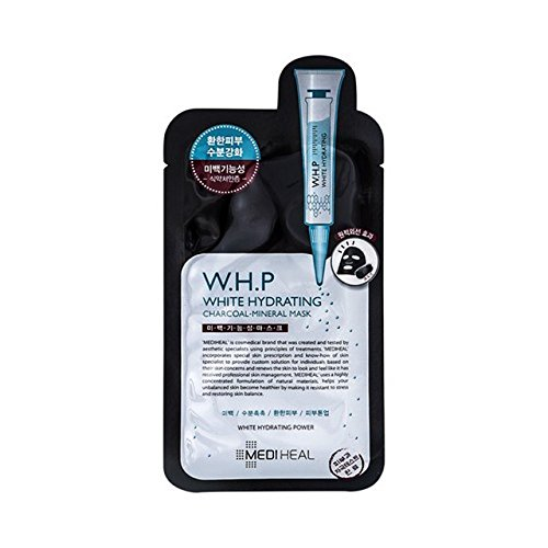 Mediheal W.H.P WHITE HYDRATING CHARCOAL MINERAL MASK x10