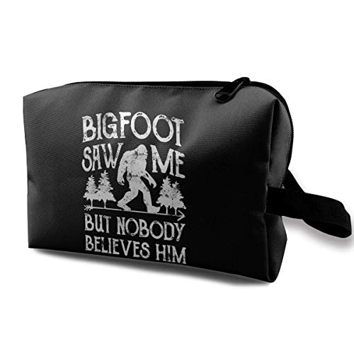 Bigfoot Saw Me But Nobody Believes Him Multifunction Travel Makeup Bags Collection Pouch Bag Organizers With Zipper