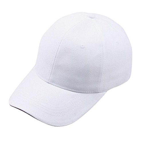 LHWY Damen Herren Baseball Cap SnapBack Hut Hip Hop einstellbar (White)