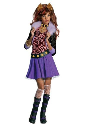 Mädchen-Kostüm, Design Clawdeen Wolf mit großer (Wolf Kostüme Perücke Clawdeen Mit)