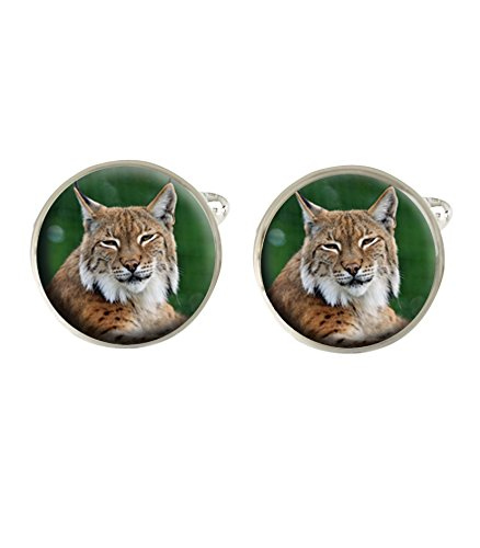 lynx-bobcat-animal-mens-cufflinks-gift-can-be-personalised-c116