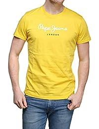 Pepe Jeans - T Shirt Pm501929 Eggo Crew 076 Jaune