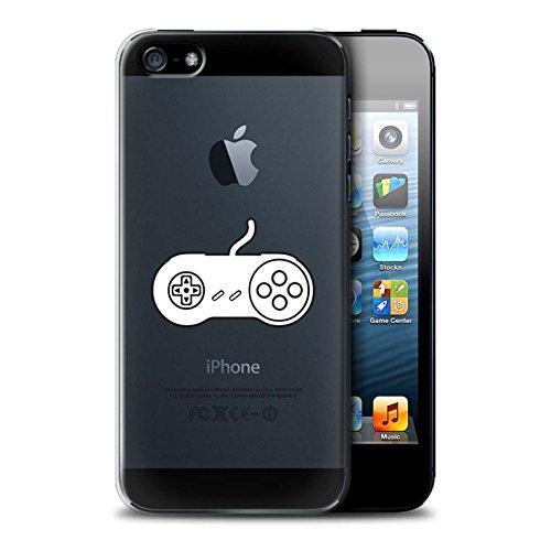 Coque de Stuff4 / Coque pour Apple iPhone 5/5S / PS1/PS2/PS3 Noir Design / Manette Jeux Vidéo Collection SNES Blanc
