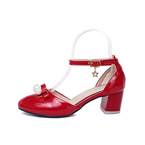 balamasa pour femme perle Confort brevet en cuir Sandales red