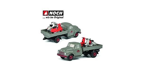 Schuco 450586800 Piccolo Opel Blitz Servico Pritsche Mit 2 Vespa Rollern Modellauto Grau Limitierte Auflage Spielzeug
