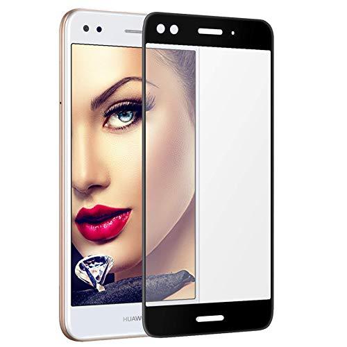 mtb more energy 3D Kombi-Schutzglas für Huawei P9 Lite Mini | Y6 Pro 2017 (5.0'') - Schwarzer Softframe - 2.5D - Curved Full Bildschirm Glasfolie
