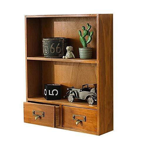 QYL 3 Schichten 2 Fächer Für Wohnzimmer-Badezimmer Hölzerner Fach-Kabinett-Regal-Tischplattenkosmetikmagazin, Wandbehang-Speicher-Präsentationsständer 3 Schichten 2 Fächer Für Wohnzimmer-Badezimmer -