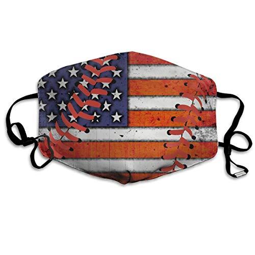 SDGSS Mund Maske,USA Flag Baseball Stitches Warm Unisex Fashion Warm Anti-Dust Washable Reusable Mund Maske