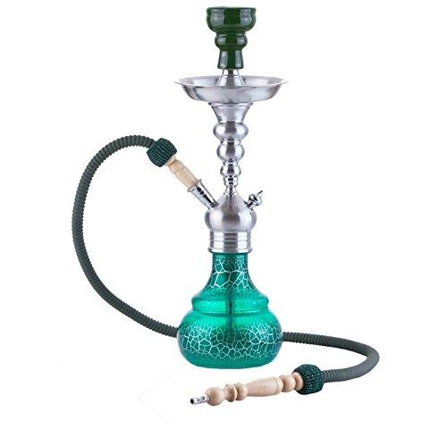 Aladin Origins Berlin 50 cm Shisha Schlauch Wasser Pfeife Hookah Schraub robust, W595, Farbe grün