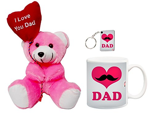 ME&You Gifts for Father, Birthday Gifts, Anniversary Gifts, Father's Day Gift Set- Teddy, Mug & Keyring IZ18NJPTMK-1716