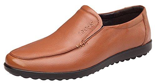 Wealsex Mocassins Cuir Homme Chaussure Ville Homme Sans Lacet Jaune