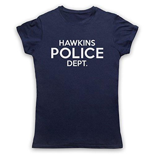 Inspiriert durch Stranger Things Hawkins Police Department Inoffiziell Damen T-Shirt Ultramarinblau