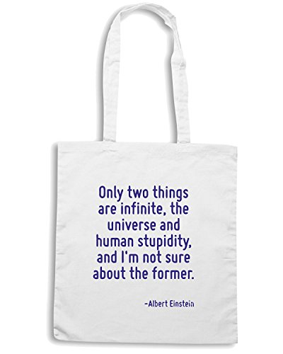 T-Shirtshock - Borsa Shopping CIT0178 Only two things are infinite., Taglia Capacita 10 litri