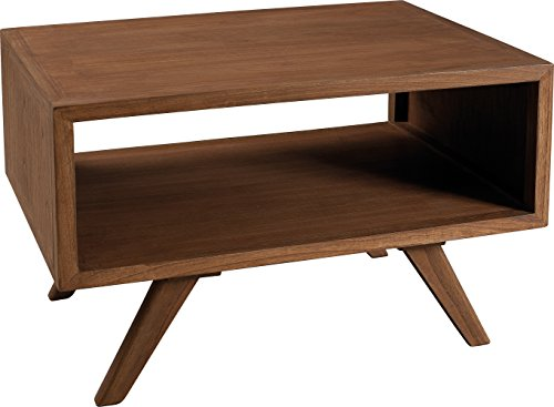 Macabane Table Basse rectangulaire Double Plateau Bois, Cannelle, 70 x 50 x 45,5 cm