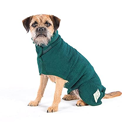 Ruff and Tumble Dog Drying Coat - Classic Collection (XXXS, Brick Red) 7