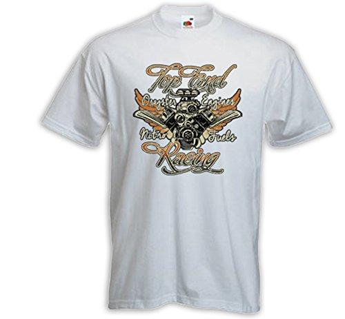 Hot Rod T-Shirt Top End weiß Vintage Rockabilly V8 Custom Dragster Weiß