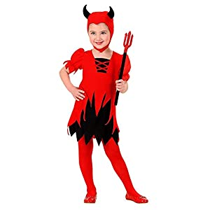 WIDMANN-Diavoletta 20109 - Disfraz infantil (110 cm/3-4 años), multicolor