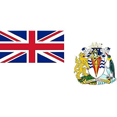 Territorio antartico britannico Bandiera 20x30cm per Diplomat-Flags Bandiere per Auto - Cappotto Britannico Di Armi