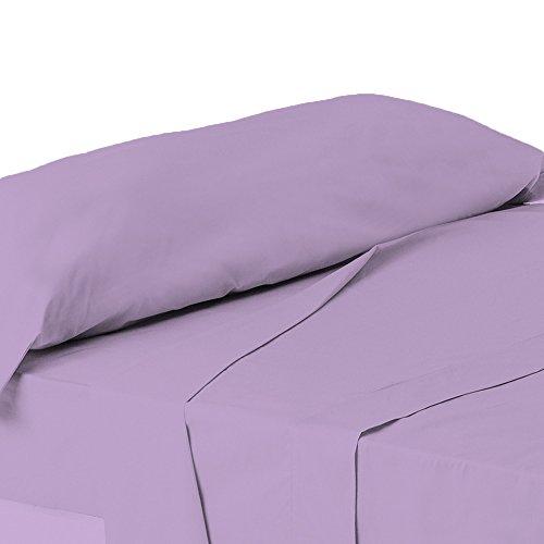 ForenTex - Juego de sábanas de 3 piezas, (X-4002), Lila Claro, cama...