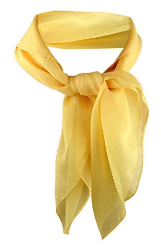 TigerTie Damen Chiffon Nickituch gelb Gr. 50 cm x 50 cm - Tuch Halstuch Schal