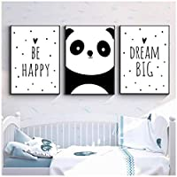 MULMF Baby Nursery Wall Art Canvas Painting Animal Panda Poster and Prints Nordic Kids Decoration Picture Bedroom Decor- 50X70Cmx3 No Frame