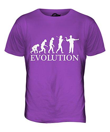 CandyMix Darts Evolution Des Menschen Herren T Shirt Violett