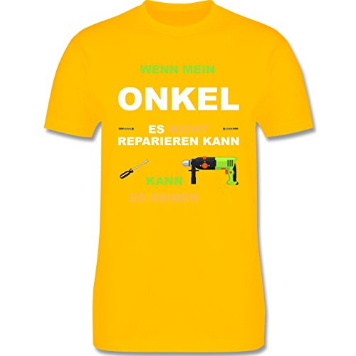 Bruder & Onkel - Wenn mein Onkel es nicht reparieren kann kann es keiner - Herren Premium T-Shirt Gelb