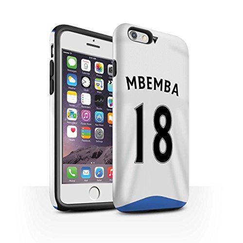 Offiziell Newcastle United FC Hülle / Glanz Harten Stoßfest Case für Apple iPhone 6S / Janmaat Muster / NUFC Trikot Home 15/16 Kollektion Mbemba