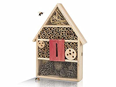 Insektenhotel Insektenhaus Rahmen aus Echtholz von Qsource GmbH - Du und dein Garten