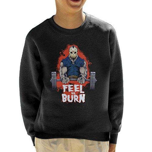 n Voorhees Pumping Iron Gym Kid's Sweatshirt (Jason Voorhees Geburtstag)