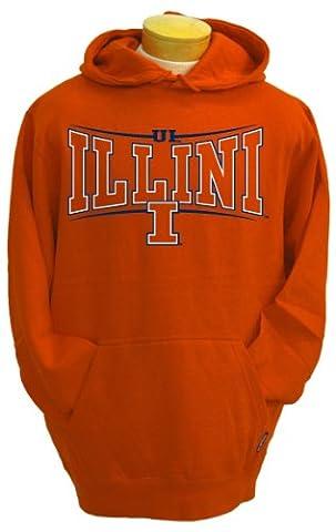 NCAA Men's Illinois Fighting Illini Brody Hooded Sweatshirt (Orange, Small)
