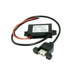 Autek DC Converter 8-35V 24V 12V bis 5V 3A Step Down Buck USB-Modul für iPhone C