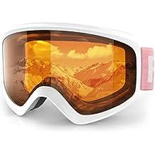 06d09fda1b134c findway Masque de Ski Protection pour Enfant Lunette Ski Masque Ski OTG de  Garçon ou Fille