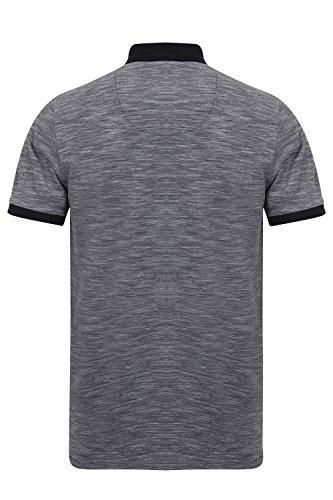 Kensington Eastside Herren Blusen Poloshirt Hester -Navy Blue Grey