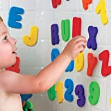 36 Bath Foam Letters and Numbers (Letters A-Z Numbers 0-9)