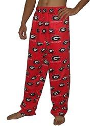 NCAA Georgia Bulldogs hommes Fall / Winter Polar Fleece Thermal Sleepwear / Pajama Pantalon