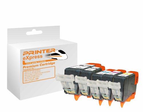 Preisvergleich Produktbild Printer-Express XL-SET 5 Druckerpatronen mit Chip ersetzten PGI-525 CLI-526