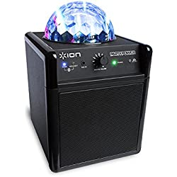 ION Audio Party Power - Altavoz Bluetooth portátil con sistema de luces sincronizadas con la música