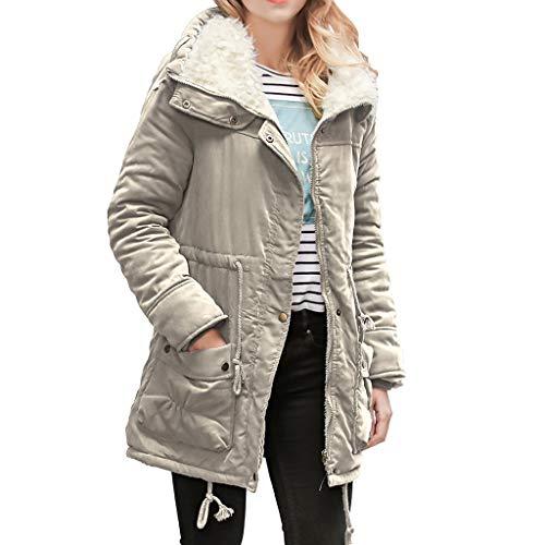 JURTEE Damen Jacken 2019 Winter Warme Lange Mantelkragen Kapuzenjacke Damen Winter Parka Outwear ()