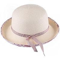 LBY La Primavera Y El Verano Nuevo Sombrero De Las Señoras Curling Sombrero Sunscreen Sombrero De Paja Sombrero De Playa Visera Femenina Sombreros de Sol