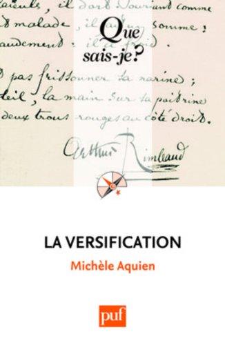 La versification par Michèle Aquien